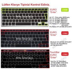 Laptop MacBook Air Pro Klavye Koruyucu Kılıf 13inc 15inc 17inc Türkçe Baskı A1278 A1466 1502 Ombre