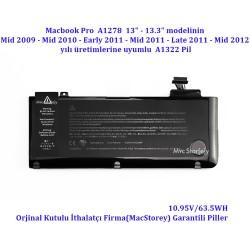 "Macbook Pro A1278 13"" Pili batarya Mid 2009 Mid 2010 Early  2011 Late 2011 Mid 2012"