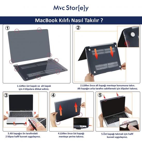 MacBook Pro Kılıf 15inc HardCase A1398 2012/2015 Koruyucu Kılıf Rainbow