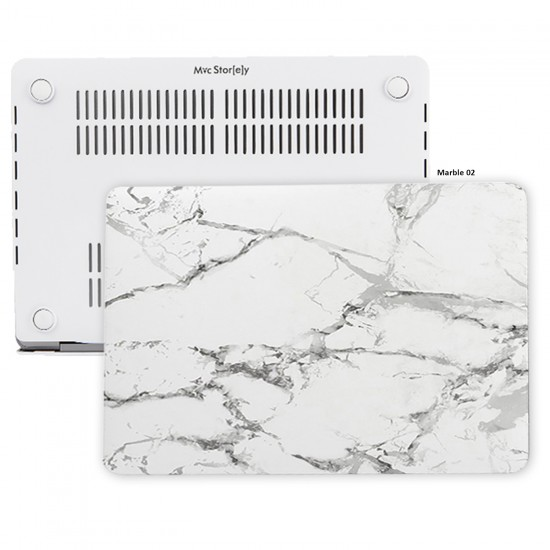 MacBook Pro Kılıf 15inc HardCase Touch Bar A1707 A1990 Uyumlu Koruyucu Kılıf Mermer