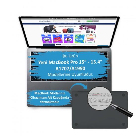 MacBook Pro Kılıf 15inc HardCase Touch Bar A1707 A1990 Uyumlu Koruyucu Kılıf Mermer06NL
