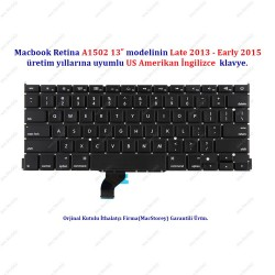 "MacBook Pro Retina 13"" A1502 Klavye Tuş Takımı US İngilizce"