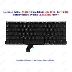 "MacBook Pro Retina 13"" A1502 UK İngilizce Klavye Tuş Takımı"
