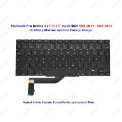 "MacBook Pro Retina A1398 15"" TR Türkçe Klavye Tuş Takımı"