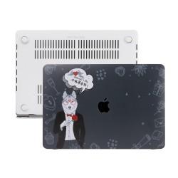 MacBook Pro Retina Kılıf 13inc HardCase A1425 A1502 2015/2015 Koruyucu Kılıf Dog01