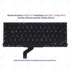 """MacBook Retina 13"""" A1425 Türkçe Klavye Tuş Takımı"""