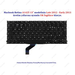 "MacBook Retina 13"" A1425 UK İngilizce Klavye Tuş Takımı"