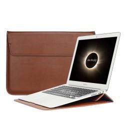 "MacBook Retina 15"" 15.4 Deri Çanta Kılıf Sleevebag Pu Stand"
