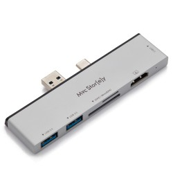 Microsoft Surface Pro 7 HDMI Çevirici USB Çoklayıcı 4K USB-C Çevirici Dönüştürücü