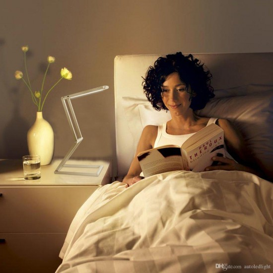 Şarjlı Masa Çalışma Kitap Okuma Lambası Gece Lambası 10 Saat Batarya Ömrü