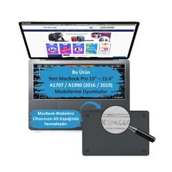 MacBook Air Pro 16inc Çerçeveli Ekran Koruyucu Hava Kabarcığı Bırakmaz A1707 A1990