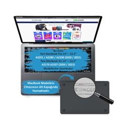 MacBook Air Pro 13inc Çerçeveli Ekran Koruyucu Hava Kabarcığı Bırakmaz A2251 A2289 A2338 A2179 A2337
