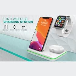 iPhone Samsung Huawei Kablosuz Şarj Aleti Watch AirPods AirBuds Çoklu Miknatisli Şarj Aleti