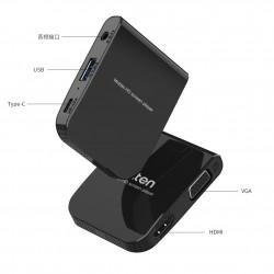 Telefon TV bağlantı aparatı HDMI VGA USB 3.5mm Audio Girişli HD Görüntü
