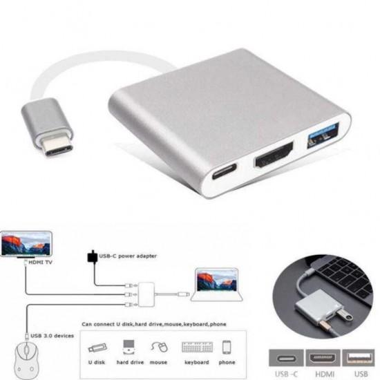 Type-c Çevirici HDMI Dönüştürücü USB Hup Çoklayıcı Adaptör
