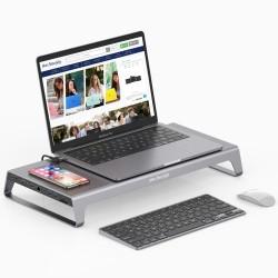 Type-C Dönüştürücü Laptop Stand Kablosuz Şarj Destekli VGA HDMI Dönüştürücü