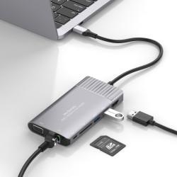 Type-C HDMI VGA Ethernet Dönüştürücü Yeni MacBook Pro Stand USB 3.1 Kart Okuyucu 4K Full HD 1080P