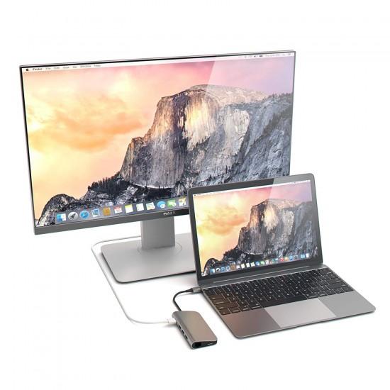 Type c Hub to Hdmi 4k Gigabit Ethernet 3XUSB3.0+1XAC MSD Dönüştürücü Aparat Usb-c 3.1 Macbook Laptop