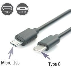 Type-C Kablosu USB-C Kablo USB-C to Micro USB Kablo Şarj ve Data Senkranizasyonu