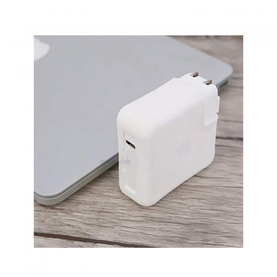 Type-C Şarj Aleti Silikon Kılıfı MacBook Air A1932 USB-C 30W A1882 MacBook A1534 USB-C 29W A1540