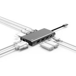 Type-C VGA HDMI Ethernet Dönüştürücü 2XHDMI 4K Full HD Görüntü MFI Sertifikalı Orijinal Veri Hızı