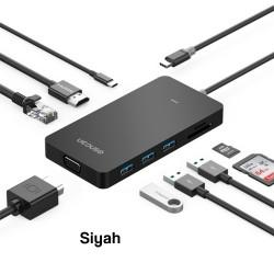 UCOUSO USB-C Hub Multi Ethernet-HDM-VGA-Msd-Sd MacBook Dönüştürücü Aparat 1534 A1706 A1708 A1707
