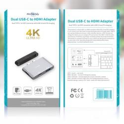 USB Çoğaltıcı Çoklayıcı USB-C HDMI Çevirici 4K 1XHDMI 1XUSB3.0