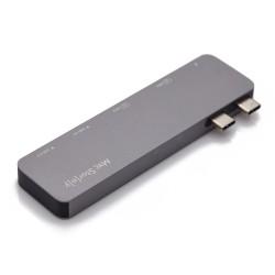 USB Çoğaltıcı Hdmi Dönüştürücü Apple MacBook 2 Farklı Ekrana 4K Görüntü Aktarma Aparatı