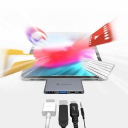 USB Çoklayıcı Type-C Çevirici HDMI Çoğaltıcı iPad Pro Surface Pro USB Çoğaltici