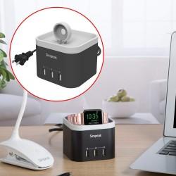 USB Şarj Aleti Simpeak Miknatisli Şarj İstasyonu USB Çoklayıcı Adaptör