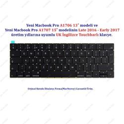 """Yeni MacBook A1706/07  13"""" 2016-2017 Klavye Tuş Takımı UK  İngilizce Klavye"""